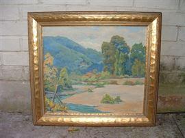 California oil painting - Babette Fickert studied under Arthur Hill Gilbert