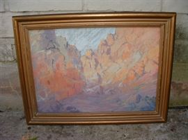 original pastel by California artist Carl Sammons