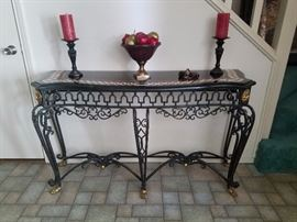 authentic entry table which is made to go against walls