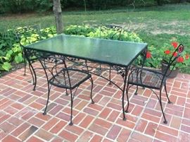Wrought ironpatio table and chairs