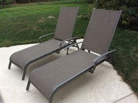 Pair of Chaise lounge pool chairs