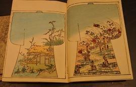 "RARE: ""SHIKI NO YOSOOI"" 50 designs 1896  2 vol. Japanese Kimono Design Woodblock Prints Books"