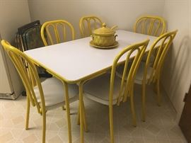 This is just the cutest vintage dining set we have ever seen!