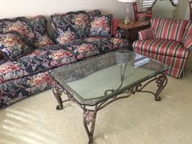 Fabulous glass and metal free table.