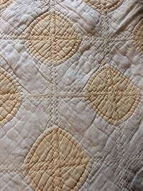 Vintage yellow quilt, good for crafts