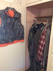 Hunting clothes and coveralls