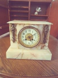 Vintage Clock -Marble