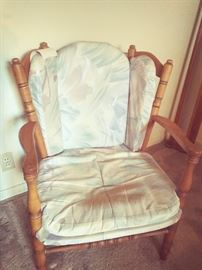 Wing back bedroom chair