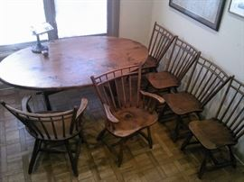 Hunt Country Furniture Colonial Dining Set - handmade