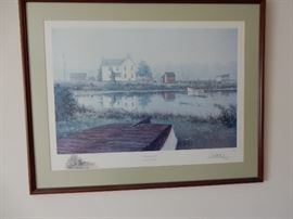 "LIMITED EDITION PRINT, ""LIFTING FOG"", SIGNED, REMARQUED BY PAUL MCGEHEE"