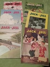 Jack and Jill Magazines from 1950 and 1951