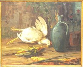 Oil on board by R. Tosti, Italian