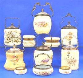 Biscuit jars and  Wavecrest accessories