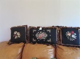 Needlepoint pillow set