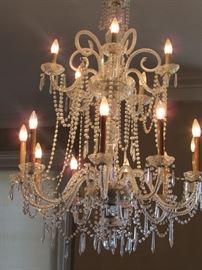 Matching huge crystal chandelier