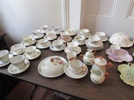 English and Frence teacups and saucers, Breakfast sets
