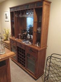 Oak Back Bar