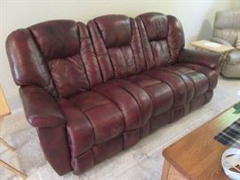 Maroon Double Reclining Sofa