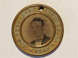 (Rare) 1860  Abraham Lincoln Hamlin Campaign Button