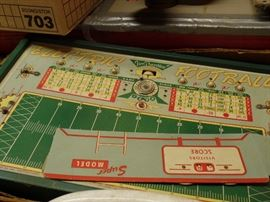 metal Football Game from 1930/40s