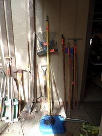 Yard working tools of all types
