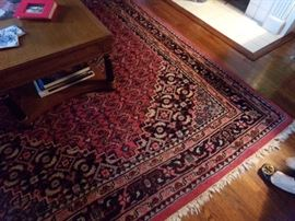 Hand knotted rug (8 by 6)