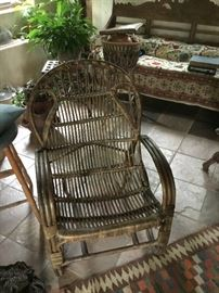 Bamboo antique chair
