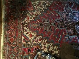Persian hand knotted wool rug 9x 6.3