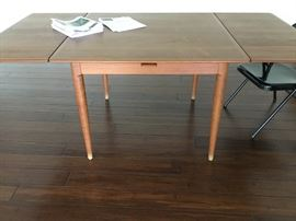 MM Moreddi Denmark midcentury 1960s modern teak expandable dining table