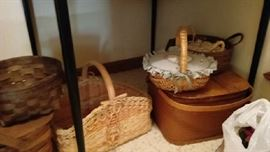 Longaberger baskets, antique baskets, and more