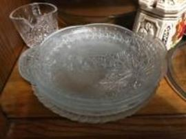 Collection of platters and bowls