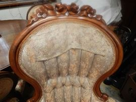 ANTIQUE IVORY CHAIR. WILL NEED SOME REPAIR