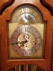 Face of the Grandfather clock