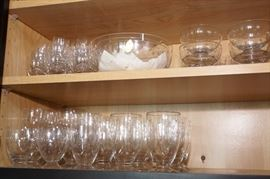 72 pc Handshiff Krystal glass ware set with etched stars
