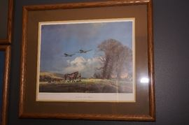 signed and numbered WWII aviation art print