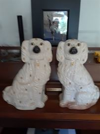 Staffordshire style dog pair $80