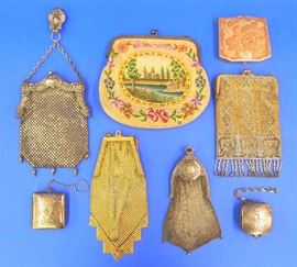 Victorian purses and compacts