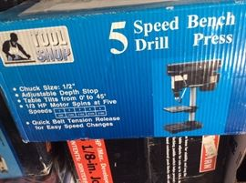 Tool Shop 5 Speed Drill Bench Press