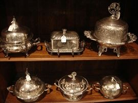 Selection of butter dishes.