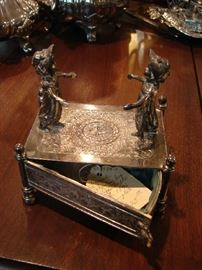 Whimsical jewelry box. One of several amusing pieces you don't see often.