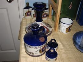 English porcelain - Pusser's John Paul Jones decanter and more.