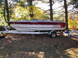Larson 19' Speed Boat (Motor no good) - Trailer excellent condition