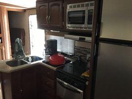 Kitchen inside Camper -