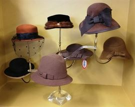 """Tons of Vintage and  Brand New """"SCALA"""" Vintage inspired hats"""