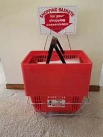 Shopping baskets to help you carry your items.