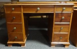 antique desk with leather top