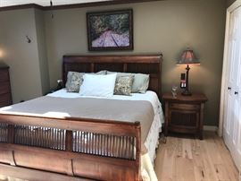 King Size Sleigh Bed with (2) matching night stands.
