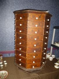 ANTIQUE MERCHANTS BOLT AND SCREW CHEST OF DRAWERS