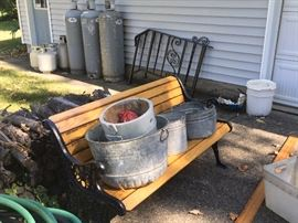 wash basins,  out door bench also selling