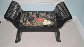 Japanese lacquer bench.